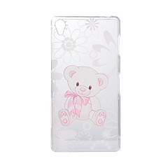 Voor Sony Xperia Z5 Z3 Case Cover Cartoon Bear Pattern Back Cover Soft TPU