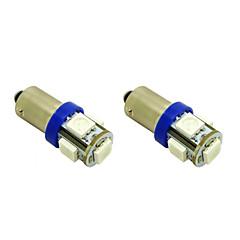 BAX9s H6W 1w 5x5050 SMD sininen LED-lamppu auton lamppu (DC 12V, 2-pack)