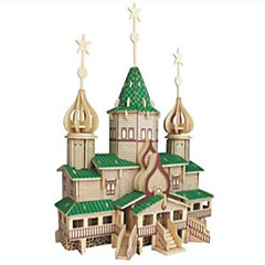 Jigsaw Puzzles Wooden Puzzles Building Blocks DIY Toys Russian Christmas Big House 1 Wood Ivory Model & Building Toy