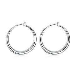 Store øreringe Ørering Plastik Sølvbelagt Mode Sølv Smykker Bryllup Fest Halloween Daglig Afslappet Sport 1 par
