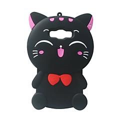 Voor Samsung Galaxy A7 case cover 3D cartoon kat siliconen bescherming back cover case