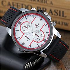 Heren Sporthorloge Dress horloge Modieus horloge Polshorloge Kwarts Silicone Band Cool Vrijetijdsschoenen Zwart Wit Rood Merk