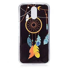 Varten Hehkuu pimeässä / Kuvio Etui Takakuori Etui Unisieppari Pehmeä TPU varten Motorola MOTO G4