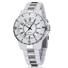 Dames Dress horloge Modieus horloge Digitaal horloge Kwarts Digitaal LED Kleurrijk Keramiek Band Vrijetijdsschoenen Meerkleurig Wit Zwart
