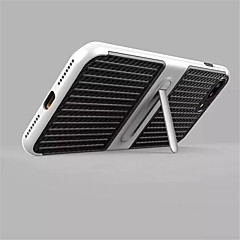 Til iPhone X iPhone 8 Etuier Med stativ Bagcover Etui Helfarve Hårdt Karbonfiber for Apple iPhone X iPhone 8 Plus iPhone 8 iPhone 7 Plus
