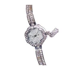 Femme Montre Tendance Bracelet de Montre Quartz Imitation de diamant Alliage Bande Fleur Pour tous les jours Argent Or Rose Argent Or Rose