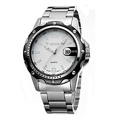 Men's Mechanical Watch Automatic self-winding Calendar Water Resistant/Water Proof Noctilucent Stainless Steel Band Silver Brand