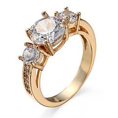 Ring Kubisk Zirkoniumoxid Zircon Kubisk Zirkoniumoxid Legering Guld Silver Smycken Casual 1st