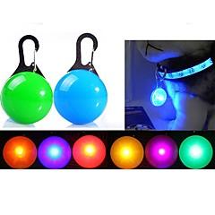 Kediler Köpekler LED Güvenlik Işıkları LED Işıklar Dahil Piller Tek Renk Kırmızı Beyaz Yeşil Mavi Pembe Sarı Turuncu Gümüş Plastik