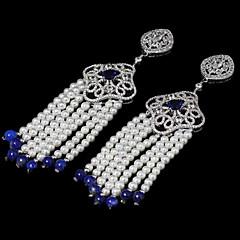 Dames Druppel oorbellen Luxe Sieraden Parel Zirkonia Kubieke Zirkonia Koper Sieraden Voor Dagelijks Causaal Sport