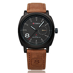 Men's Sport Watch Military Watch Dress Watch Fashion Watch Calendar Water Resistant / Water Proof Quartz Genuine Leather Band Casual