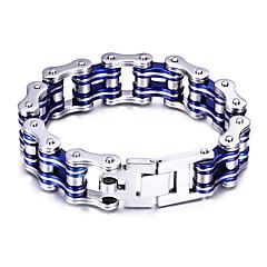 Heren Armbanden met ketting en sluiting Modieus PERSGepersonaliseerd Kostuum juwelen Roestvast staal Fietsen Sieraden Voor Feest
