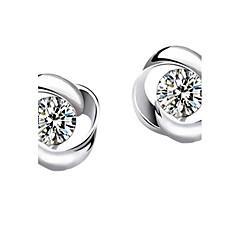 Oorknopjes Luxe Sieraden Sterling zilver imitatie Diamond Klavertje vier Zilver Sieraden Voor Feest Causaal 1 paar