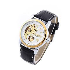 Hombre Mujer Unisex Reloj Deportivo Reloj de Vestir Reloj de Moda El reloj mecánico Cuerda Automática Calendario Esfera GrandeCuero