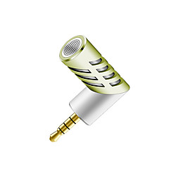 NO Kablolu Karaoke Mikrofonu 3.5mm Yeşil