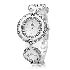 Cussi contracted fashion female table Quartz movement alloy shell diamond dial strap Modelling of sugar-coated berry Hollow out
