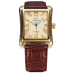 Hombre Mujer Unisex Reloj Deportivo Reloj de Moda Reloj de Pulsera El reloj mecánico Cuerda Automática Calendario Cuero Auténtico Banda