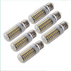 4.5W E26/E27 LED-kolbepærer T 72 SMD 5730 300 lm Varm hvid Dekorativ Vekselstrøm 220-240 V 6 stk.