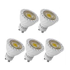 3W GU10 GX5.3 LED 스팟 조명 MR16 1 COB 250 lm 따뜻한 화이트 차가운 화이트 장식 AC 220-240 V 5개