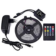 5m 3528 300 ip65 cms rgb AC 100-240V avec 20 touches musique télécommande alimentation 12v 3a alimentation