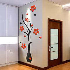 보태니컬 벽 스티커 3D 월 스티커 데코레이티브 월 스티커,비닐 자료 홈 장식 벽 데칼