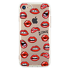 For Apple iPhone 7 7Plus 6S 6Plus Case Cover Red Lips Pattern HD TPU Phone Shell Material Phone Case