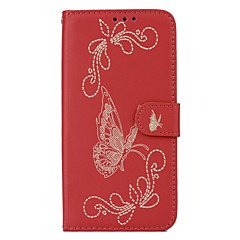 For HTC M10 Card Holder Wallet with Stand Flip Embossed Case Full Body Case Butterfly Hard PU Leather for HTC One X9