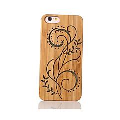 Mert Ütésálló Dombornyomott Minta Case Hátlap Case Virág Kemény Bambusz mert Apple iPhone 6s/6