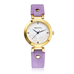 Women's Fashion Watch Quartz / PU Band Casual Elegant Black White Orange Brown Purple Brand REBIRTH