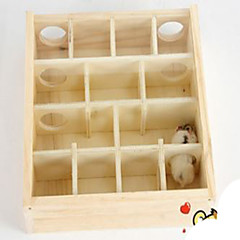 Rodents Hutches Toy Maze Wood Khaki