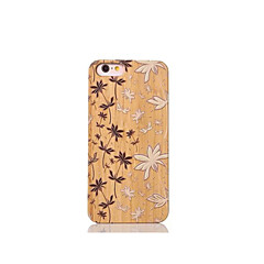 Varten Iskunkestävä Etui Takakuori Etui Kukka Kova Bambu varten Apple iPhone 6s/6