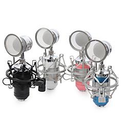 NO Kablolu Karaoke Mikrofonu 3.5mm Siyah Mavi Pembe Beyaz