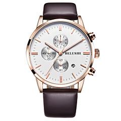 Men's Fashion Watch Quartz Alloy Band Brown