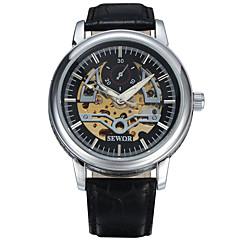 Αντρικά Γυναικεία Unisex Αθλητικό Ρολόι Ρολόι Φορέματος Μοδάτο Ρολόι Ρολόι Καρπού μηχανικό ρολόι Μηχανικό κούρδισμα Γνήσιο δέρμα Μπάντα