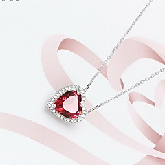 Women's Pendant Necklaces Jewelry Heart Sterling Silver Heart Fashion Jewelry For Daily Casual Christmas Gifts