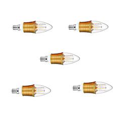 9W E14 Luzes de LED em Vela C35 45 SMD 2835 850 lm Branco Quente Decorativa AC 220-240 V 5 pçs