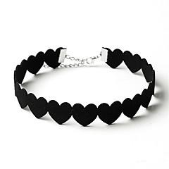 Kort halskæde Smykker Cirkelformet Hjerteformet Dyreformet Svane Flannel Rundt design Blomster Kærlighed Cirkel Euro-Amerikansk Sød Stil