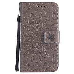 Voor Kaarthouder Portemonnee met standaard Flip Reliëfopdruk Patroon hoesje Volledige behuizing hoesje Mandala Hard PU-leer voor Nokia