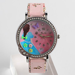 Fashion Watch Quartz / PU Band Cartoon Casual Pink Beige Brand