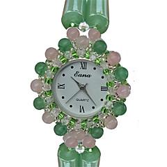 Fashion Watch Bracelet Watch Quartz Jade Band Charm Casual Green