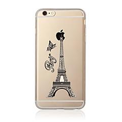 For Transparent Mønster Etui Bagcover Etui Eiffeltårnet Blødt TPU for AppleiPhone 7 Plus iPhone 7 iPhone 6s Plus/6 Plus iPhone 6s/6