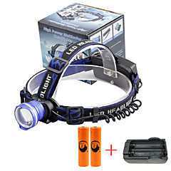 Налобные фонари LED 2000 Люмен 3 Режим Cree XM-L T6 18650 Фокусировка Компактный размерПоходы/туризм/спелеология Повседневное