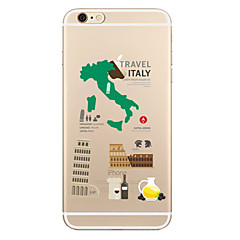 For Transparent Mønster Etui Bagcover Etui Bybillede Blødt TPU for AppleiPhone 7 Plus iPhone 7 iPhone 6s Plus iPhone 6 Plus iPhone 6s