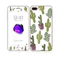til Apple iPhone 7 4.7 hærdet glas med blød kant fuld skærm dækning foran og bagpå skærmbeskytter sexy lady mønster