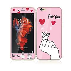 iPhone 6s plus / 6 plus 5,5 karkaistua lasia pehmeällä reunalla koko näytön kattavuuden edessä ja takana näytön suojus rakkautta teitä