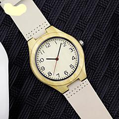 Hombre Reloj de Moda Cuarzo Aleación Banda Blanco Marfil Marca