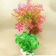 Dekoracja Aquarium Kwiaty Nietoksyczne i bez smaku Plastik Różowy