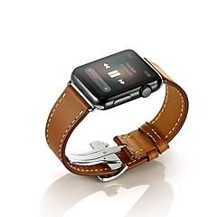 Horloge band voor appelhorloge 38mm 42mm lederen vervanging horlogeband vlinder gesp