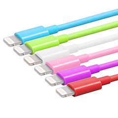 Lightning USB 3.0 Ledning Ladingskabel Fletted ladingskabel Data og synkronisering Normal Kabel Til Apple iPhone iPad 100
