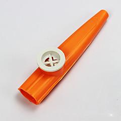 plástico rojo / azul / morado kazoo / verde / amarillo para los niños juguete instrumentos musicales